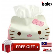 Ready stock Isales Hello Kitty PU leather tissue case home desk car  home deco