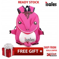 Ready stock 3D Cute Dinosaur Casual Kids Bag Backpack