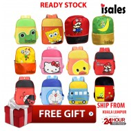 Ready Stock ISALES School Bag Preschool Backpack Kindergarten Kids Junior Cartoon Bag