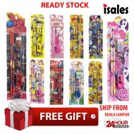 ISALES Ready Stock Kid Cartoon Preschool School Stationery Supplies Set Birthday Event Children Door Gift