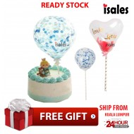 Ready Stock ISALES Transparents 5.5 Inch Balloon Birthday Wedding Cake Topper