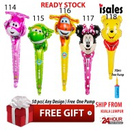 Ready Stock Isales Party Birthday Decoration Super Wing Foil Balloon Birthday Party Hand Balloon