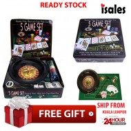 Ready Stock ISALES Poker 5 IN GAME SET