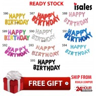Ready Stock ISALES  Happy Birthday Foil Balloon Set Various Colour 16 Inch Adult