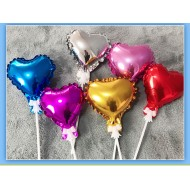 Ready Stock ISALES 5inch Love Heart Star Balloon cake topper Party decoration Birthday Cake Deco