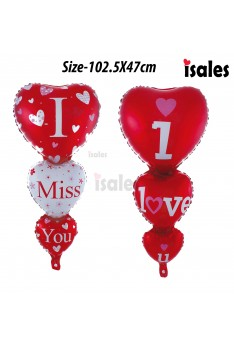 Party Decoration ISALES 1pcs Large I Love you I miss you Foil Balloon Belon