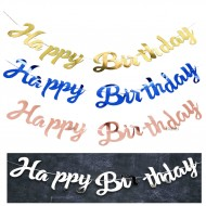 Party Decoration ISALES Laser Happy Birthday Banner Flag baby shower Kids party