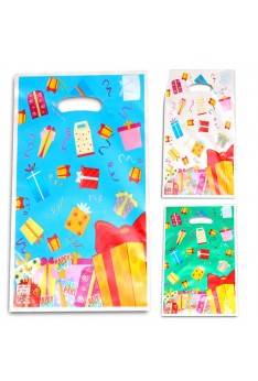 10 pcs Ready stock Present Gift loot Gift bag Goodies Plastic Party Bag