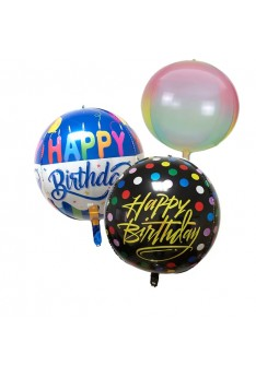 ISALES 22 Inch Happy Birthday Printing 4D Balloon Foil Birthday Party Decoration