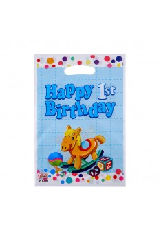 10 pcs Ready stock Baby shower 1st birthday horse birthday loot Gift bag Goodies Plastic Party Bag