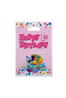 ISALES 10 pcs Ready stock Baby shower 1st birthday Baby Stroller birthday loot Gift bag Goodies Plastic Party Bag