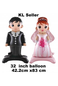 32 inch Bride and Groom Wedding Anniversary Party Balloon