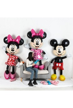 175cm Large Mickey Minnie Mouse Foil Balloons Cartoon Birthday Party Decorations Baby Shower Party Balloon Toys