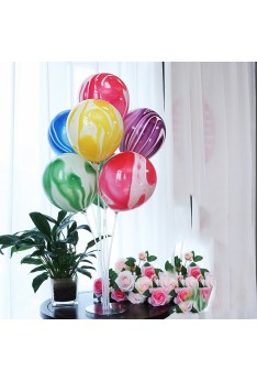 Party Decoration ISALES Balloons 1set Marble Column Stand Clear Plastic Ballon Stick Birthday