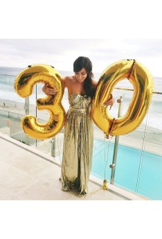40 inch Isales Super large number foil balloon Gold Rose Gold Silver birthday party